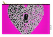 Heart Shaped Lock - Pink Carry-all Pouch