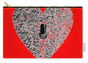 Heart Shaped Lock - Red Carry-all Pouch