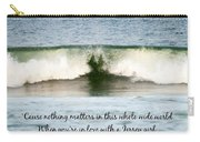 Heart Wave Seaside Nj Jersey Girl Quote Carry-all Pouch