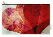 Hearts 5 Square Carry-all Pouch