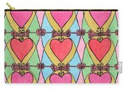 Hearts A'la Stained Glass Carry-all Pouch