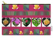 Hearts And Flowers 2 Carry-all Pouch