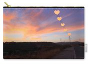 Hearts Sunset Carry-all Pouch by Augusta Stylianou