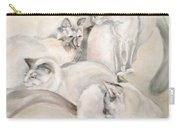 Heavenly Puffs Carry-all Pouch by Janet Felts