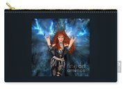 Heavy Metal Fashion. Sofia Metal Queen. Blue Fire Storm. The Power Carry-all Pouch