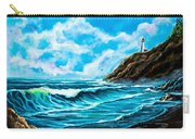 Heceta Head Lighthouse Oregon Coast Original Painting Forsale Carry-all Pouch