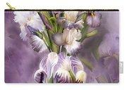 Heirloom Iris In Iris Vase Carry-all Pouch