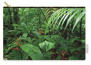 Heliconia And Palms With Green Anole Carry-all Pouch