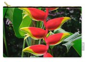 Heliconia Rostrata 2 - A Blooming Heliconia Rostrata Flower Carry-all Pouch