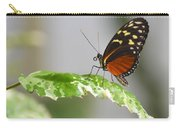 Heliconius Butterfly On Green Leaf Carry-all Pouch