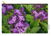 Heliotrope Flowers In Bloom Carry-all Pouch