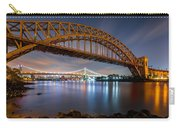 Hell Gate And Triboro Bridge By Night Carry-all Pouch