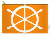 Helm In White And Orange Carry-all Pouch