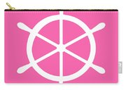 Helm In White And Pink Carry-all Pouch