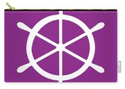 Helm In White And Purple Carry-all Pouch