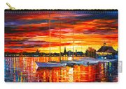 Helsinki Sailboats At Yacht Club Carry-all Pouch by Leonid Afremov