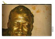 Hemmingway In Havana Carry-all Pouch by John Malone