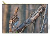 Hen Ruffed Grouse On Roost Carry-all Pouch
