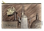 Herbs Bw Carry-all Pouch