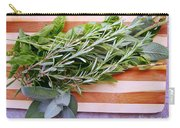 Herbs On Cutting Board Carry-all Pouch