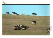 Herd Of Cows Grazing On A Hill, Point Carry-all Pouch