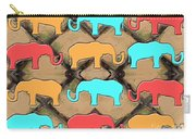 Herd Of Elephants Carry-all Pouch by Patrick J Murphy