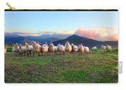 Herd Of Sheep In The Sunset Carry-all Pouch