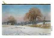 Herding Sheep In Wintertime Carry-all Pouch by Frank Hind
