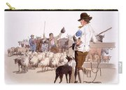 Herdsmen Of Sheep And Cattle, From The Carry-all Pouch by William Henry Pyne