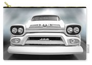 Here Comes The Sun - Gmc 100 Pickup 1958 Black And White Carry-all Pouch
