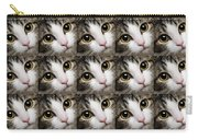 Here Kitty Kitty Close Up 25 Carry-all Pouch by Andee Design