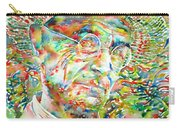Hermann Hesse With Hat Watercolor Portrait Carry-all Pouch