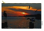 Heron And Seagull Sunset I Mlo Carry-all Pouch