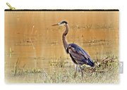 Heron At Sunset Carry-all Pouch by Marty Koch