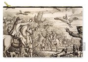 Heron Hawking, Engraved By Wenceslaus Carry-all Pouch