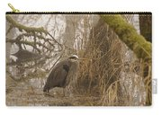 Heron In A Fog Carry-all Pouch