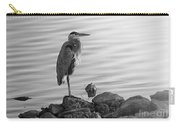 Heron In Black And White Carry-all Pouch