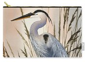 Heron In Tall Grass Carry-all Pouch