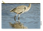 Heron Walking Through The Water. Carry-all Pouch