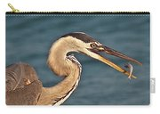 Heron With Catch Carry-all Pouch