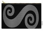 Herringbone Swirl On Black Carry-all Pouch