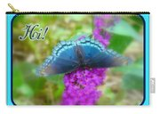 Hi Hello Greeting Card - Red Spotted Purple Butterfly Carry-all Pouch
