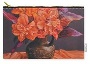 Hibiscus And Cannas In Balinese Jug Carry-all Pouch
