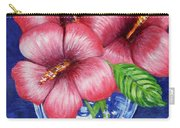 Hibiscus In Glass Vase Carry-all Pouch