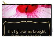 Hibiscus Closeup With Bible Quote From Song Of Songs Carry-all Pouch