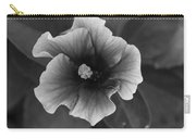 Hibiscus In Black And White Carry-all Pouch