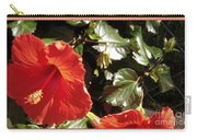 Hibiscus Red Carry-all Pouch