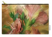 Hibiscus Sky - Peach And Yellow Tones Carry-all Pouch