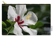 Hibiscus White Wings Carry-all Pouch