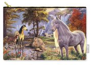Hidden Images - Horses Carry-all Pouch by Steve Read